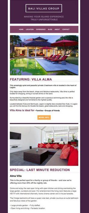 Bali Villas Portfolio Mailchimp Template
