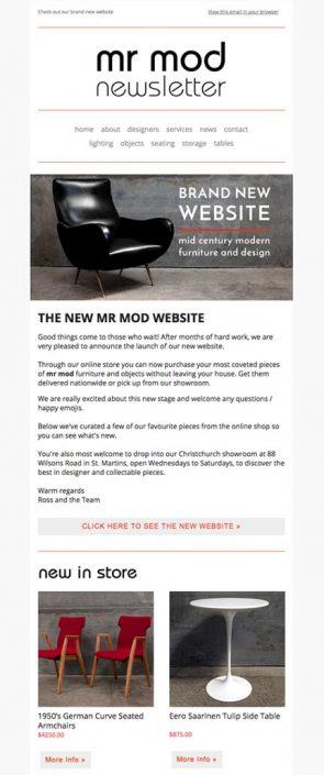 Mr Mod Mailchimp Portfolio Template