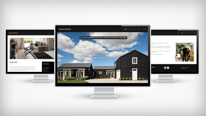 Black and White Barn website by Tanker Creative