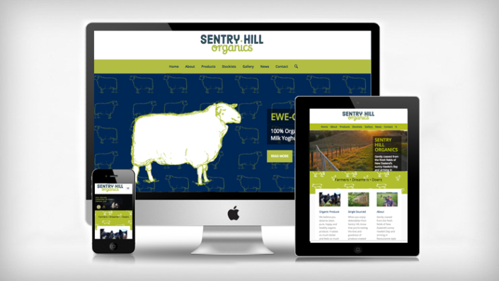 Sentry Hill Organics website by Tanker Creative