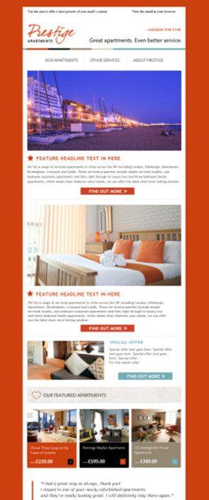 Prestige Apartments Mailchimp Portfolio Template
