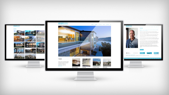 Tim Nees Architects website by Tanker Creative