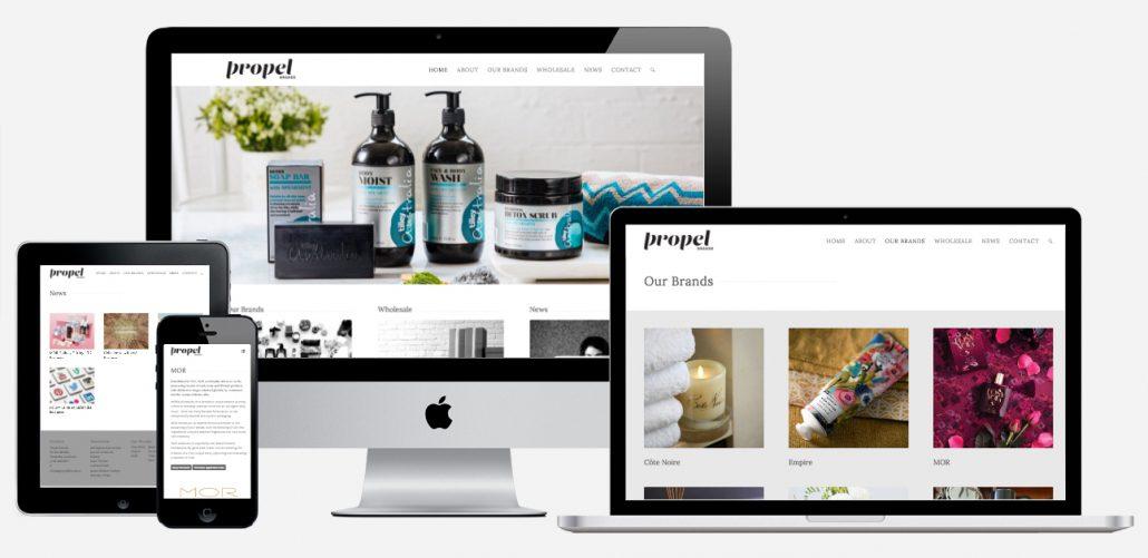 Propel Brands website by Tanker Creative