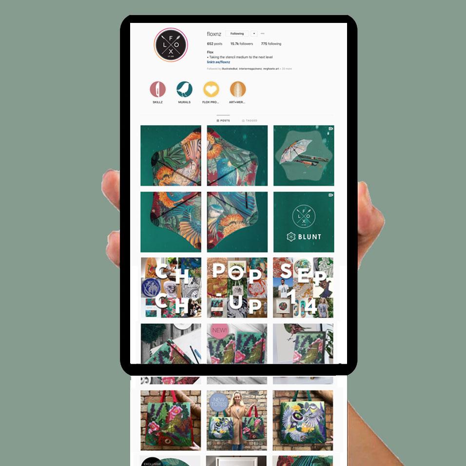 FLOX NZ Instagram portfolio