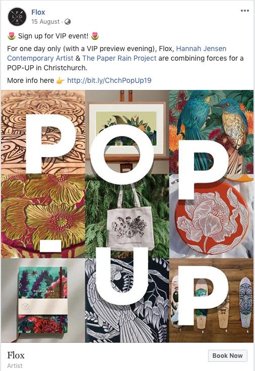 Flox VIP Event Facebook post