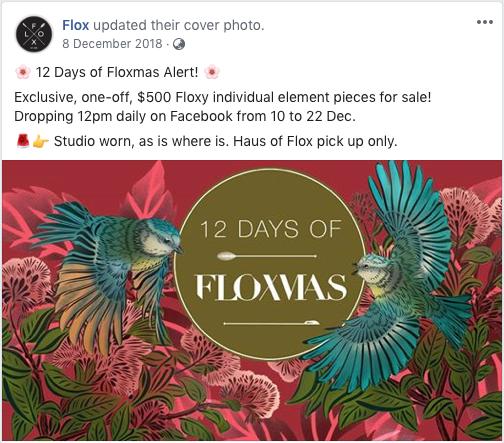 Flox Floxmas Alert Facebook post