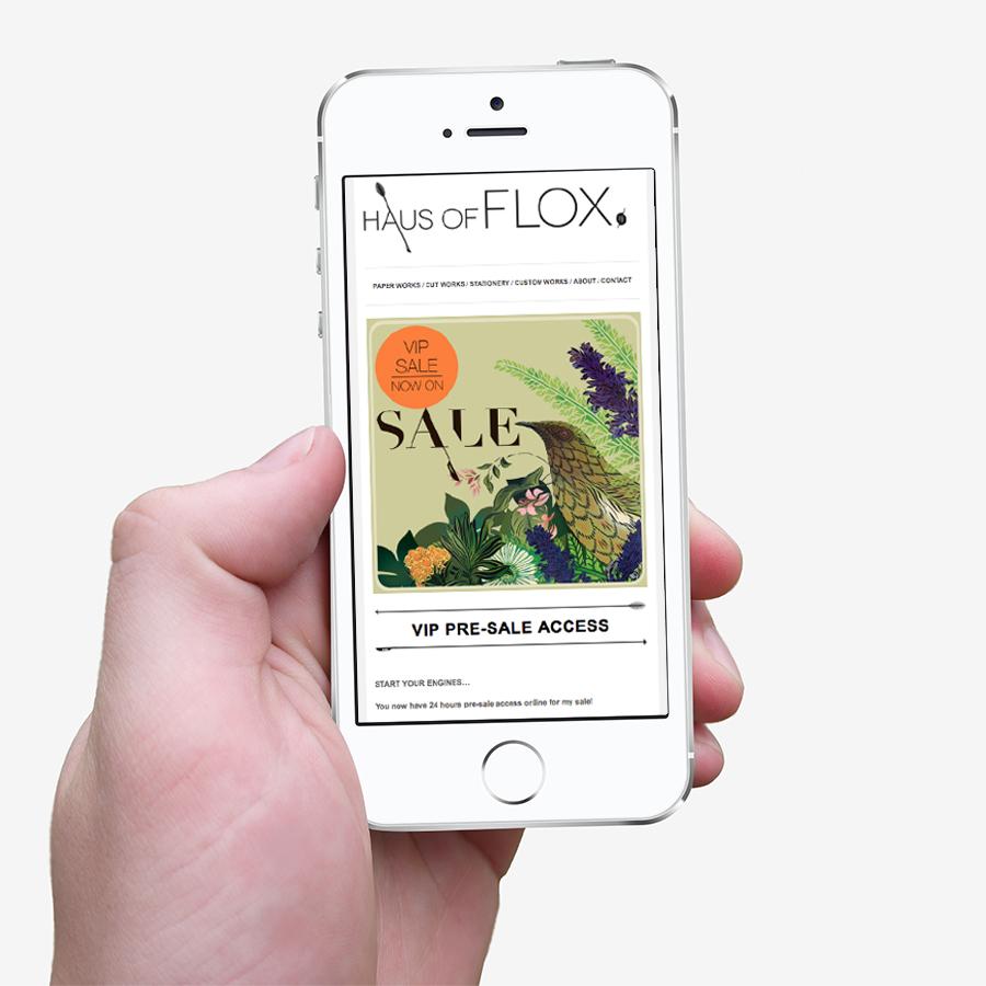 Flox Christmas Mailchimp campaign